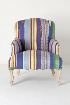 stitched kantha chair #anthrofave #anthrosale