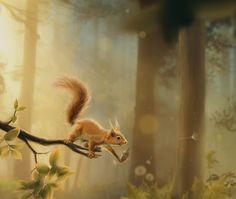 Want a Nut? by Marie Beschorner, via Behance