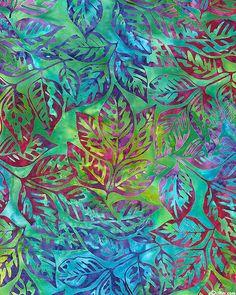 Grove 2 - All Aflutter Batik - Quilt Fabrics from www.eQuilter.com