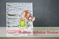 Golden Shaker Card at Scrapbook Boutique