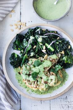 Vegan Dinner Recipes, Vegan Dinners, Whole Food Recipes, Vegetarian Recipes, Healthy Recipes, Delicious Recipes, Tasty, Zaatar Recipe, Roasted Cauliflower Steaks