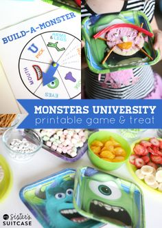 My Sister's Suitcase: Monsters University Party and Build-A-Monster Snack