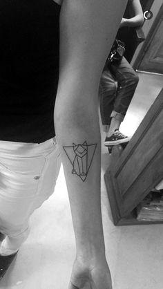 Cat minimalist tattoo