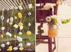 paper flower garland to hang off the lanai- idea