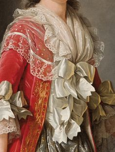 Madame Adelaide, daughter of Louis XV (detail), c., by Adélaïde Labille-Guiard (French, Historical Costume, Historical Clothing, Fashion Art, Vintage Fashion, Academic Art, 18th Century Fashion, Detail Art, Fabric Jewelry, Rustic Elegance