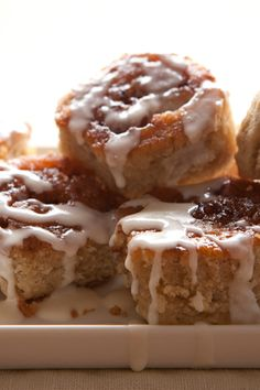 Cinnamon Rolls (gluten free) - This will be great for Christmas morning!!! Homemade cinnamon rolls and a steaming cup of hot chocolate!  YUM! :)