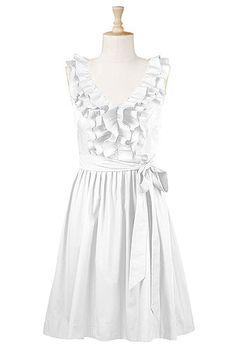 Ruffle front poplin dress - darling!!