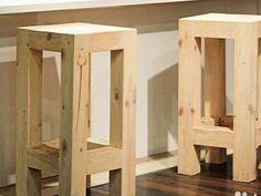 Деревянный барный стул своими руками