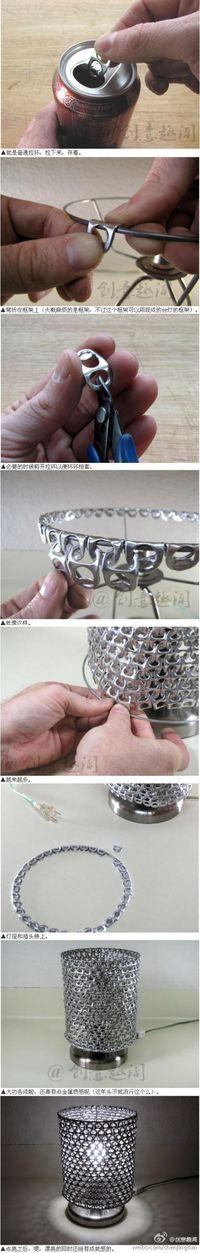 Lampara de chapitas de aluminio (Tapas de latas)
