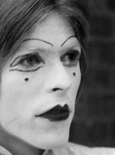 David Bowie in mime makeup in 1968.
