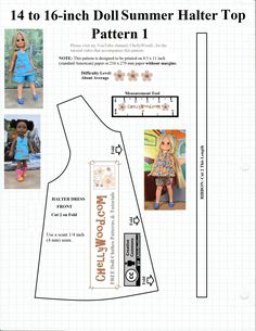This is the first of two free printable sewing patterns. Click here for easy copy/paste and download. This pattern is only slightly different from the one I posted last week, in that it offers images of the Wellie Wishers (approx. 15 inches or 38 cm tall) and Velvet dolls (approx. 16 inches or 40.5 cm…