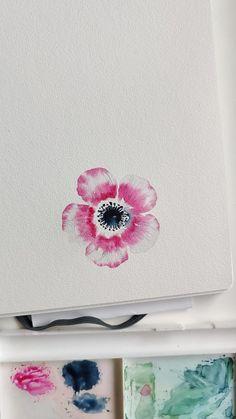 Watercolor Paintings For Beginners, Watercolor Art Lessons, Watercolor Sketchbook, Watercolor Flowers Tutorial, Watercolour Tutorials, Floral Watercolor, Indian Art Paintings, Flower Art, Creations