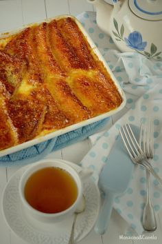 Pudding de pan y mantequilla. Bread and butter pudding.