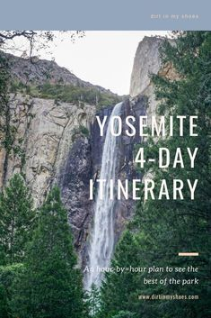 Take the trip to Yosemite National Park that your family can't stop talking about! More than a travel guide this itinerary will take you through Yosemite hour-by-hour, so you don't spend your vacation trying to find things to do in the park! Whether you'll be hiking with kids, camping with families, or are on a solo photography adventure, we'll hit your bucket lists hard! This itinerary is your key to a fun and memorable road trip without all the planning! Yosemite Vacation, Yosemite Lodging, California National Parks, Yosemite National Park, Beautiful Places To Visit, Cool Places To Visit, Tuolumne Meadows, Hiking With Kids