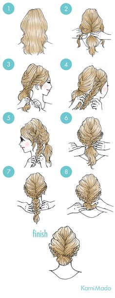 Hair styles prom diy 32 New ideas Work Hairstyles, Braided Hairstyles, Hair Arrange, Beautiful Braids, Hair Hacks, Hair And Nails, Curly Hair Styles, Hair Beauty, Hair Updo