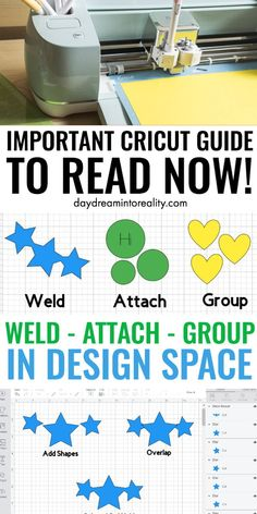 Today we are going to be covering some of the MOST IMPORTANT concepts in Cricut Design Space; Weld, Attach and Group.Learning how to, and when to use any of these tools inside Cricut Design Space will take you from rookie to expert!