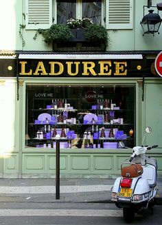 Laduree, Paris. I didn't know how heaven tastes until visiting this beautiful store for the fresh baked macarons.