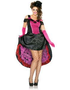 2ad4e4b7b8 Can Can Costume (Plus Size) Get It On Fancy Dress Superstore