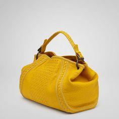 Bottega Veneta Sunset Punto Mocassino Lambskin Bag