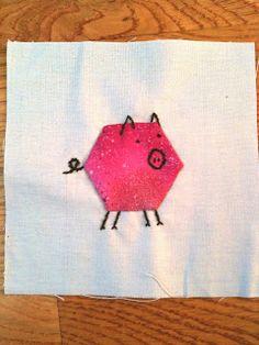 ◈ Hexagon critter from A Few Scraps. ◈