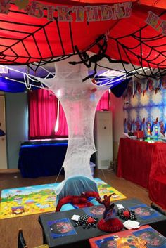 spiderman fiesta  decoracion