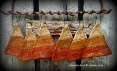 Primitive Folk Art Candy Corn Flatties-Mica by MeadowForkPrims