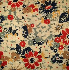 Vintage floral Fabric by pat Vintage Floral Fabric, Vintage Fabrics, Vintage Patterns, Vintage Prints, Vintage Sewing, Textiles, Textile Patterns, Print Patterns, Flower Patterns