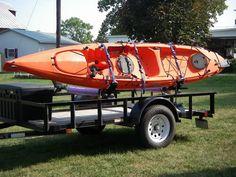 Yakima Control Towers Canoe Camping, Canoe And Kayak, Kayak Fishing, Kayak Rack, Kayak Storage, Kayak Trailer, Camping Trailers, Kayak Equipment, Kayak Adventures