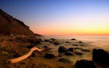 Traumhafter Sonnenuntergang am Goldstrand