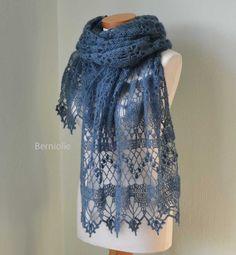 WISTERIA, Crochet shawl pattern pdf