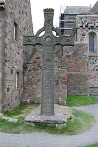 Iona Abby...It was here, at Iona Abbey, that the magnificent Book of Kells, undoubtedly one of the most beautiful artifacts of the Middle Ages, was made. And it was here that the Vikings launched their first raid in 795.