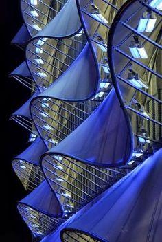 Multi storey car park, Cardiff Bay by Light Bureau, Enlighter Magazine Architects