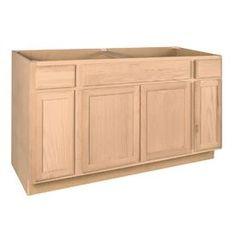 Best 60X34 5X24 In Sink Base Cabinet In Unfinished Oak Sb60Ohd 640 x 480