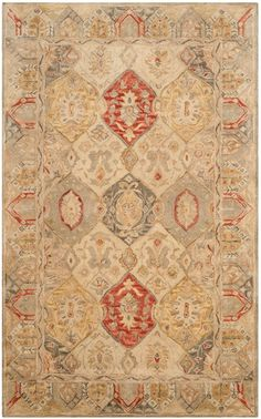 Antiquity Hand-Tufted Beige Area Rug