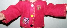 American Girl Doll Clothes  Red Fleece by KingsLittleBlessings