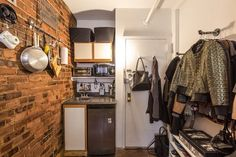 Use a hallway as an open closet - Living in 90 Square Feet