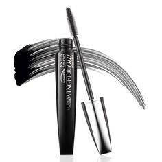 Breakthrough precision-tapered brush with hundreds of fine filigree bristles captures every lash, drawing them up and out.  Raven black lengthening fibers wrap and lift each individual lash for a long, fluttery multidimensional look.  Clump- and flake-proof. .237 fl. oz