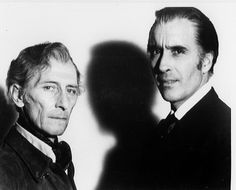 From Frankenstein to Dracula: Peter Cushing and Christopher Lee- The Unequalled… Hammer Horror Films, Hammer Films, Classic Horror Movies, Iconic Movies, Vampires, Christopher Lee, Peter Cushing, Horror House, Horror Icons