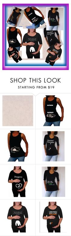 """""""Funny Maternity Shirts Black Color"""" by djammarmanufacturers on Polyvore"""
