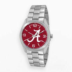 Game Time Elite Series Alabama Crimson Tide Stainless Steel Watch - COL-ELI-ALA2 - Men