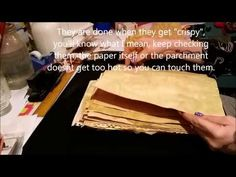 Tutorial: How To Make Coffee or Tea Dyed/Stained Paper - YouTube