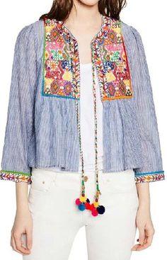 Angelina Boho Embroidery Jacket