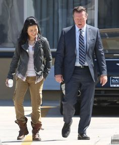 Robert Patrick and Jadyn Wong