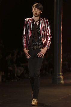 Jacket. Saint Laurent Menswear Spring Summer 2015 Paris
