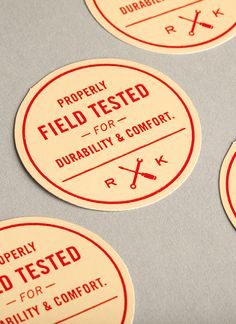 Shirt packaging identity pieces