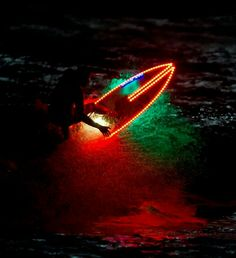 Night surf on the Cali waves under the obsidian sky, we all know moments like these fly by Radical Sports, Extreme Sports, Neon Licht, Surf Hair, E Skate, Stand Up Paddle, Windsurfing, Big Waves, Ocean Waves