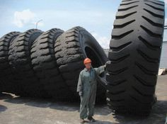 Massive tires for our oversized cargo loads!