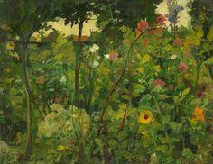 Bloementuin ( Flower Garden) - Leo Gestel 1906 Dutch painter 1881-1941