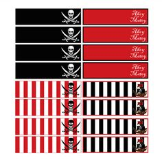 PIRATE PRINTABLE STRAW FLAGS