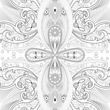 Arabesque coloring page